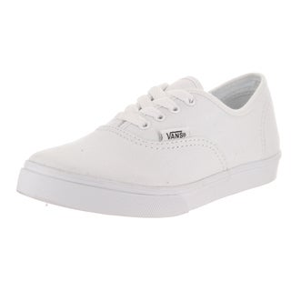 Vans Kids' Authentic Lo Pro White Canvas Skate Shoes