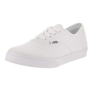 Vans Kids' Authentic Lo Pro White Canvas Skate Shoes