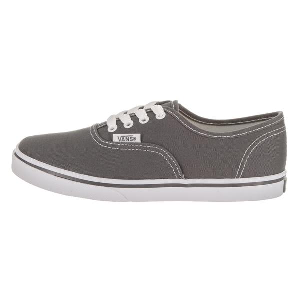 Shop Vans Kids' Authentic Lo Pro Grey Canvas Skate Shoes