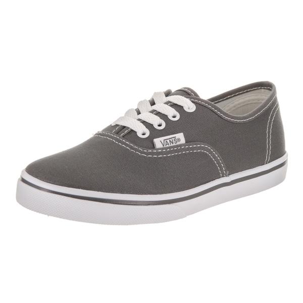 ca4c8c8f75 Shop Vans Kids  Authentic Lo Pro Grey Canvas Skate Shoes - Free ...