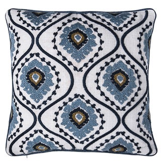 Sunrise Ikat Embroidered Throw Pillow