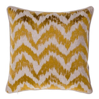 Watercolor Linen and Cotton 18-inch Chevron Throw Pillow