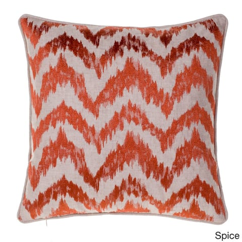 Watercolor Linen and Cotton 18-inch Chevron Throw Pillow