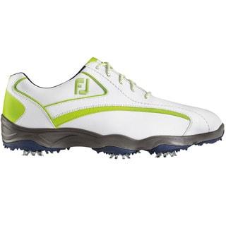 FootJoy Superlites Golf Shoes White/Navy/Lime