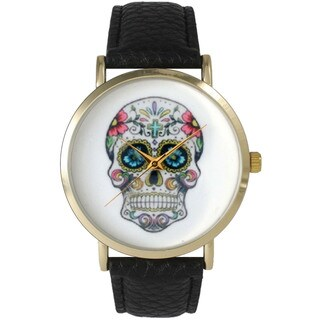 Olivia Pratt Women's Sugar Skull Leather Watch One Size (3 options available)