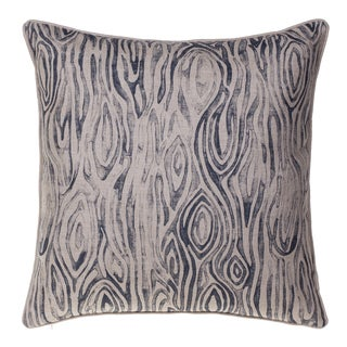 Woodgrain Cotton Down 24 x 24 Throw Pillow