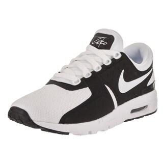 Nike Women's Air Max Zero Black and White Textile Running Shoe