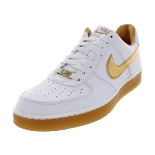 Nike Men's AF1 Downtown PRM White Leather Basketball Shoe