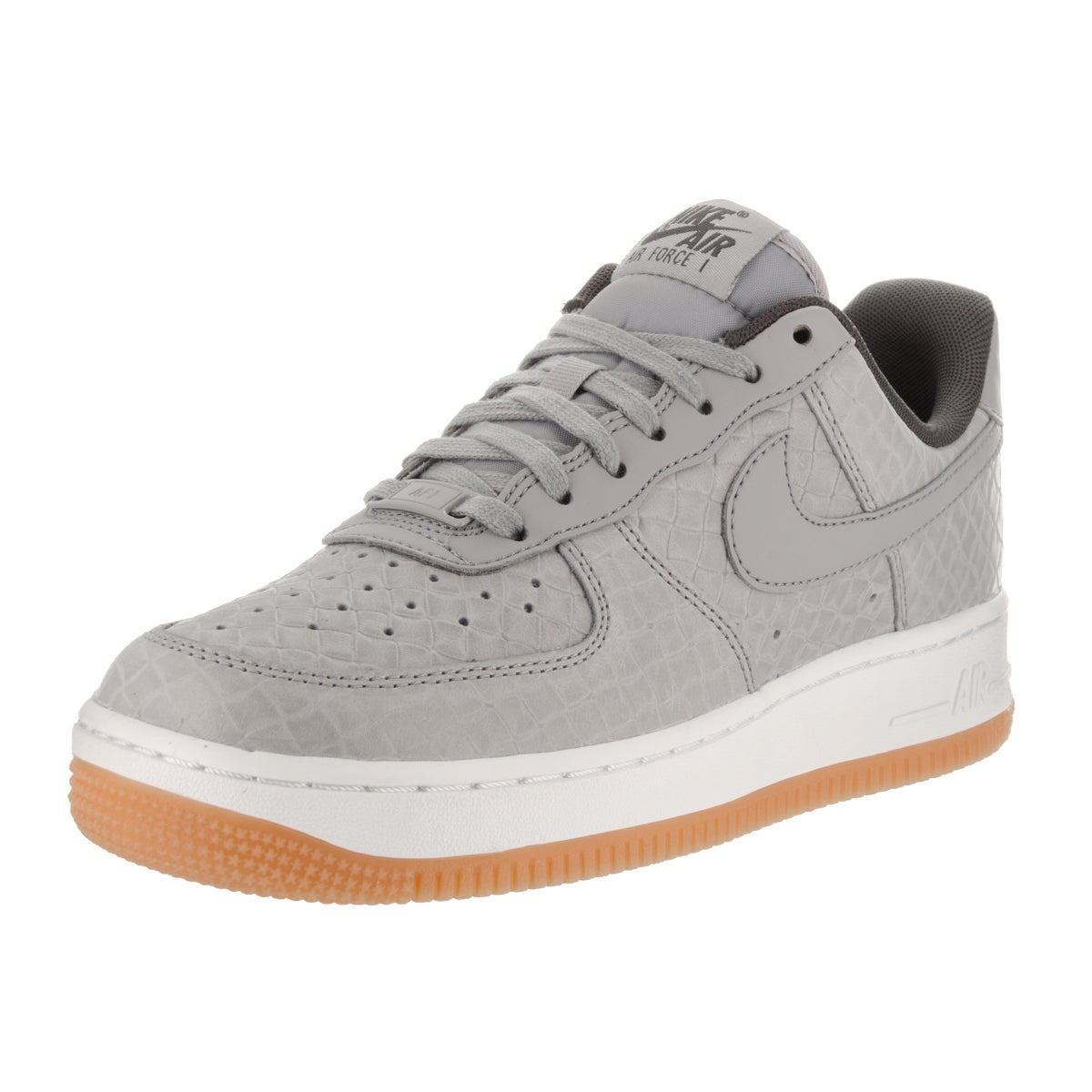 Nike Women's Air Force 1 '07 Prm Grey Leather Basketball ...