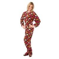 d366be9fc7b6 Shop Big Feet Pajamas Unisex Adult Navy Fleece Footed Drop Seat One ...