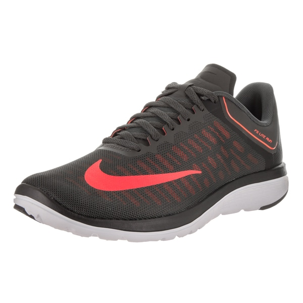 3d85b151afa Shop Nike Men s FS Lite Run 4 Grey Faux Leather Running Shoe - Free ...