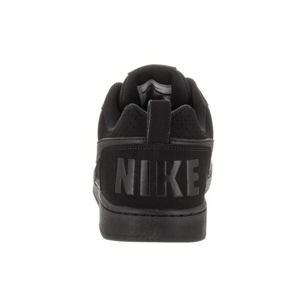Shop Nike Men's Black Leather Court