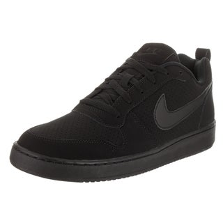 Nike Men's Black Leather Court Borough Low Basketball Shoe