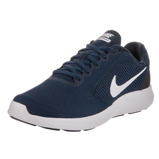 Nike Men's Revolution 3 Midnight Navy Synthetic Leather Running Shoe