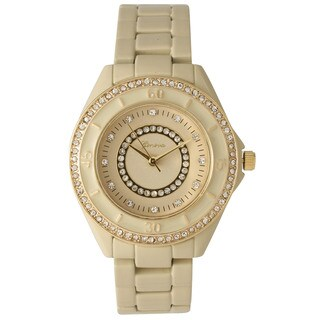 Olivia Pratt Women's Radiating Rhinestones Bracelet Watch One Size