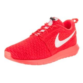Nike Men's Roshe NM Orange Flyknit Running Shoes
