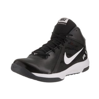 Nike Men's The Air Overplay IX Black Synthetic Leather Wide Basketball Shoe