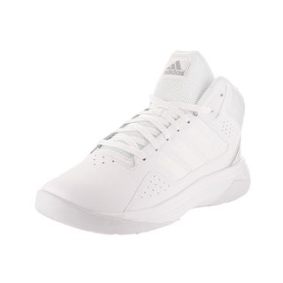 Adidas Men's Cloudfoam Ilation White Synthetic Leather Mid Basketball Shoe