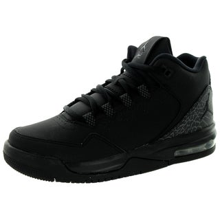 Nike Jordan Kids Jordan Flight Origin 2 BG Black Leather Basketball Shoes