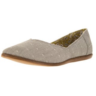 Toms Women's Jutti Grey Fabric Flat Casual Shoe