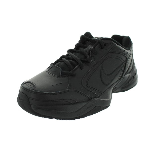 43a136a01d6a Shop Nike Air Monarch IV Black Synthetic-leather Training Shoes ...