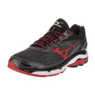 Mizuno Men's Wave Inspire 13 Black Synthetic Leather Running Shoes