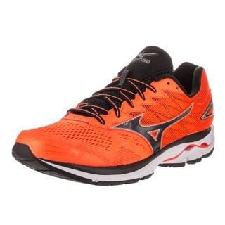 Mizuno Men's Wave Raider 20 Orange Faux Leather Running Shoe