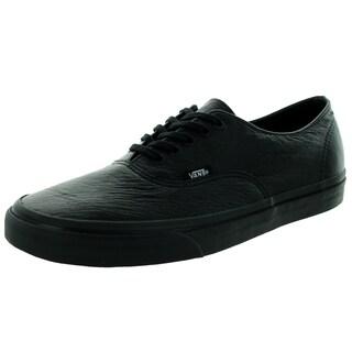 Vans Unisex Authentic Decon Black Premium Leather Skate Shoes