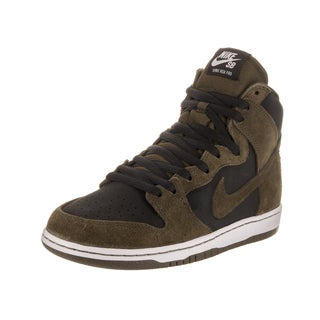 Nike Men's SB Zoom Dunk High Pro Green Suede Skate Shoes