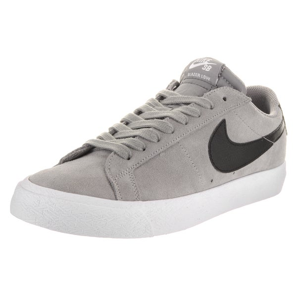 Shop Nike Men s SB Blazer Zoom Low Grey Suede Skate Shoes - Free ... e7ddbd5cf