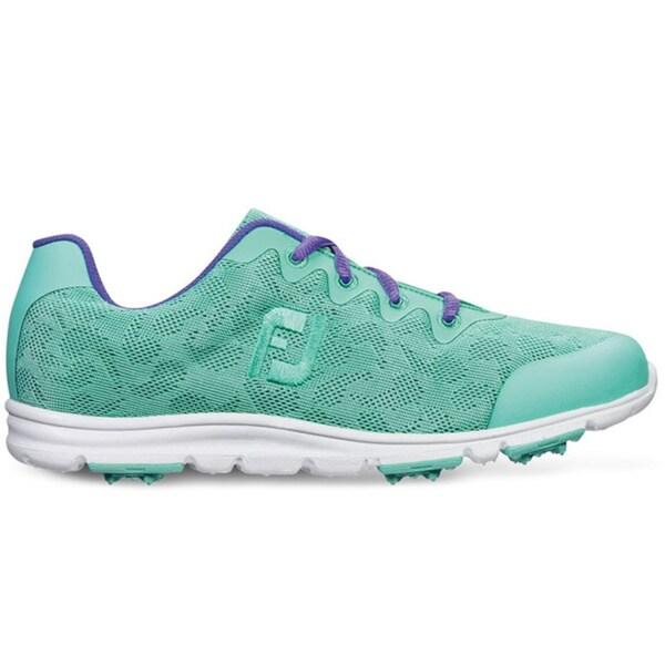 FootJoy Enjoy Spikeless Golf Shoes Ladies Sea Foam