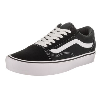 Vans Unisex Old Skool Lite Black Suede and Canvas Skate Shoe