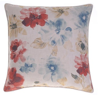Flora Multicolored Cotton/Linen 24-inch x 24-inch Throw Pillow