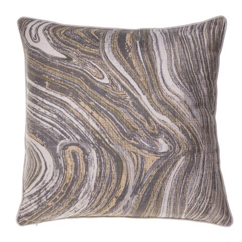 Watercolor Marble Polyester Throw Pillow