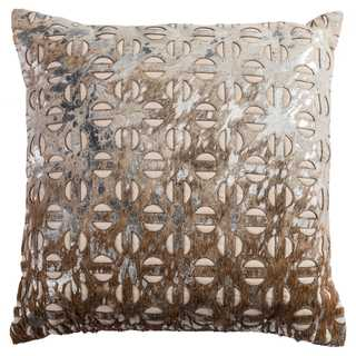 Rizzy Home Beiege Cotton 20-inch x 20-inch Decorative Throw Pillow