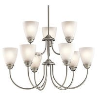 Kichler Lighting Jolie Collection 9-light Brushed Nickel LED Chandelier