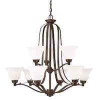 Kichler Lighting Langford Collection 9-light Olde Bronze LED Chandelier