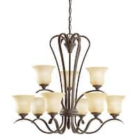 Kichler Lighting Wedgeport Collection 9-light Olde Bronze LED Chandelier