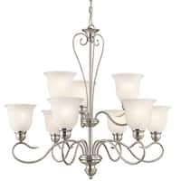 Kichler Lighting Tanglewood Collection 9-light Brushed Nickel LED Chandelier