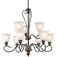 Kichler Lighting Tanglewood Collection 9-light Olde Bronze LED Chandelier