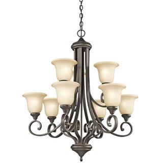 Kichler Lighting Monroe Collection 9-light Olde Bronze LED Chandelier