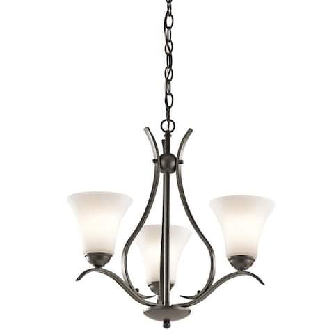 Copper Grove Braeview 3-light Olde Bronze LED Chandelier