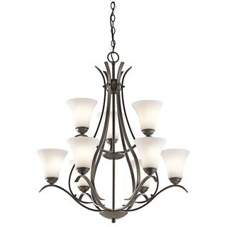 Kichler Lighting Keiran Collection 9-light Olde Bronze LED Chandelier