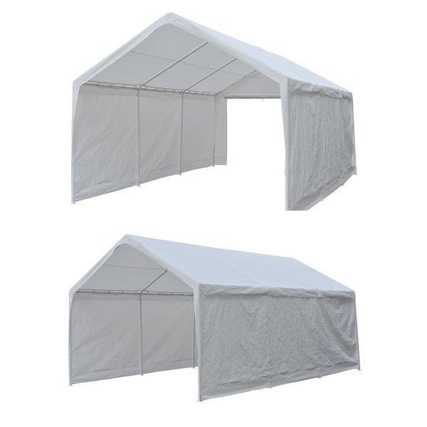 Abba Patio 12 x 20 feet Heavy Duty Domain Carport Car Canopy Shelter with Steel  sc 1 st  Overstock.com & Abba Patio 12 x 20 feet Heavy Duty Domain Carport Car Canopy ...