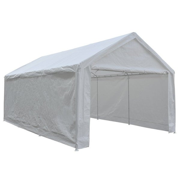 Abba Patio 12 x 20 feet Heavy Duty Domain Carport Car Canopy Shelter with Steel  sc 1 st  Overstock.com : 12 by 12 canopy tent - afamca.org