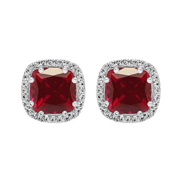 Shop Elora 14k Gold 2 3 8 Ct Cushion Cut Ruby Amp Round