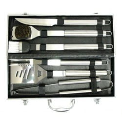 Daxx Stainless Steel 6-piece BBQ Set with Case - Thumbnail 2