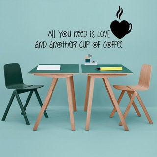 Love Coffee Wall Decals Quotes Coffee Words Kitchen Wall Decor Heart Home Decor Vinyl Decor Sticker