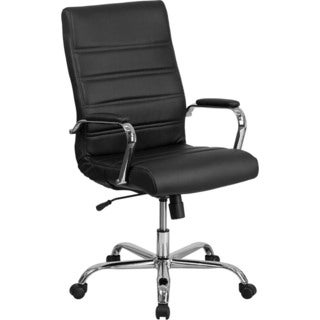 Offex High-back Black LeatherSoft and Chrome Executive Swivel Office Chair