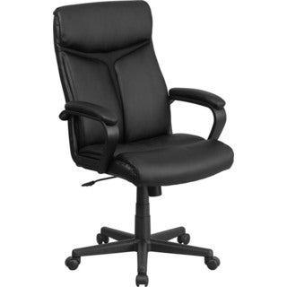 Offex High Back Black LeatherSoft Executive Swivel Office Chair